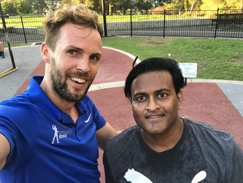 Krunal testing my own endurance in an outdoor session together.